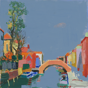 Morning in Burano. Acril on canvas