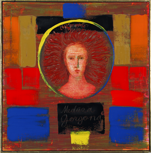 Gorgon. 2008. Oil on canvas. 100x100