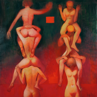 Temptation. 2002. Oil on canvas. 200x200